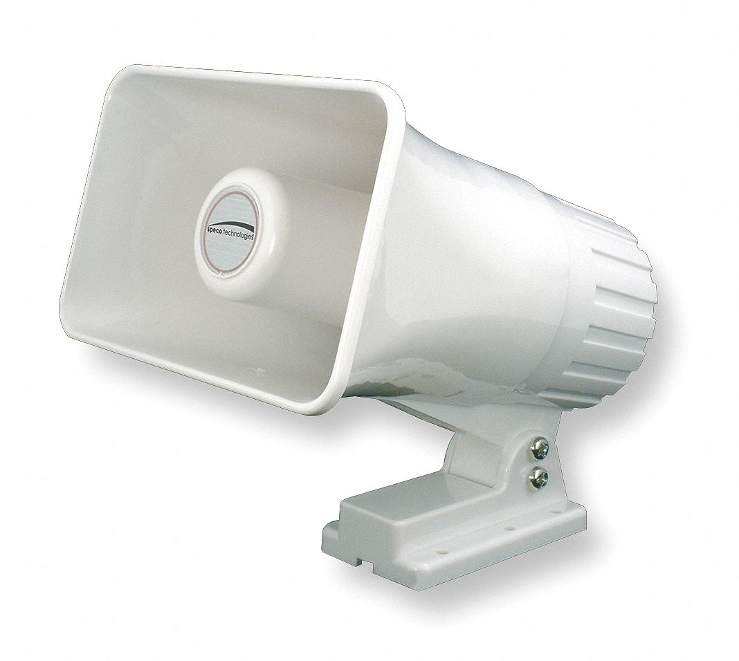 PA Horn,  15 W Watt (RMS),  8 ohm Impedance (Ohms),  4 in Overall Height (In.)