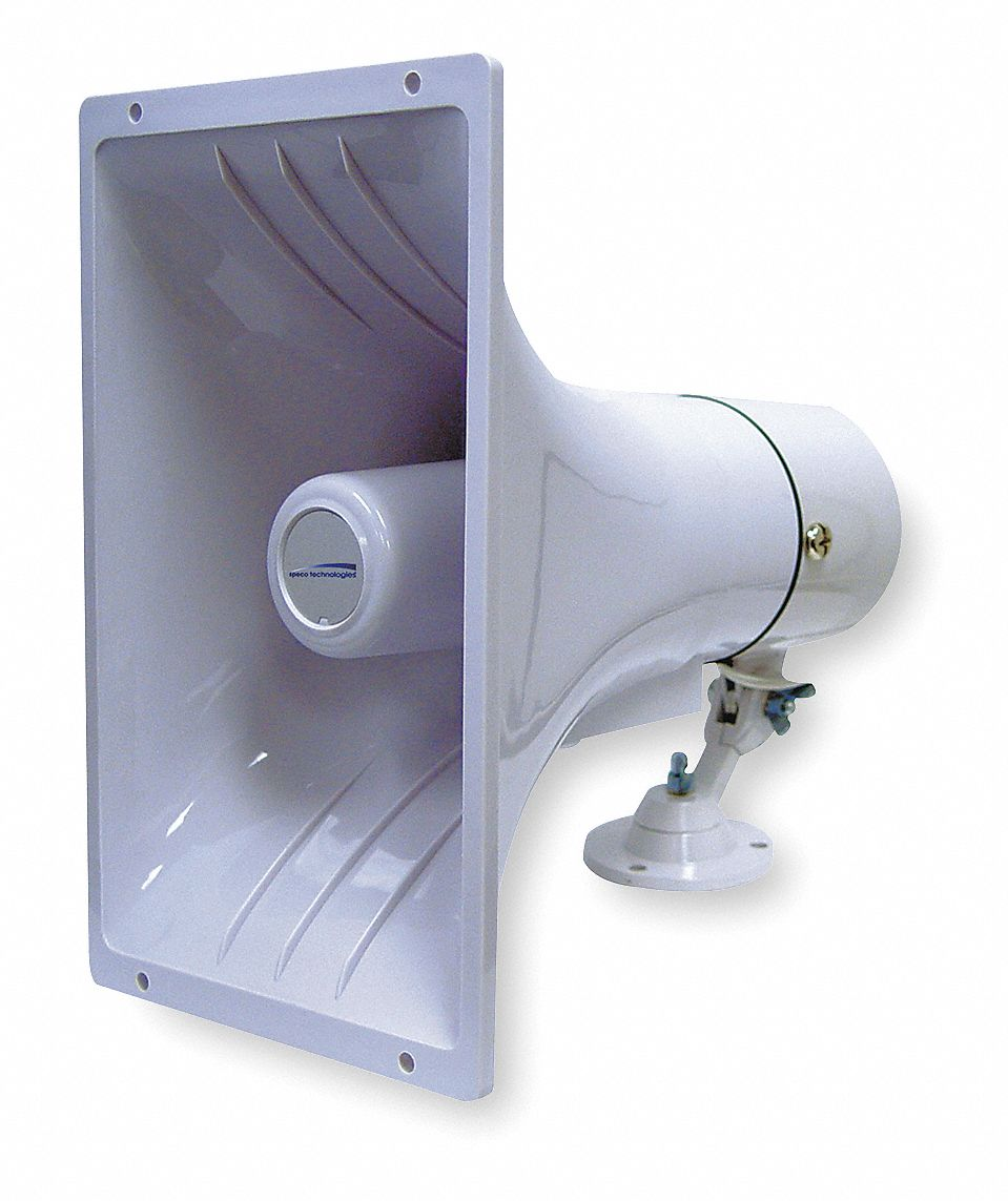 PA Horn,  15 W Watt (RMS),  8 ohm Impedance (Ohms),  11 in Overall Height (In.)
