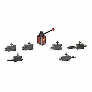 Tool Post & Holder Set,7 PC,AXA Series