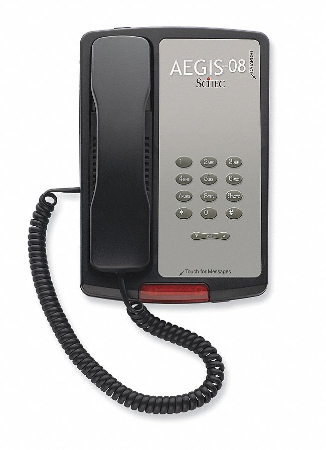 Hospitality Basic Phone,  Black,  Voicemail Message Indicator