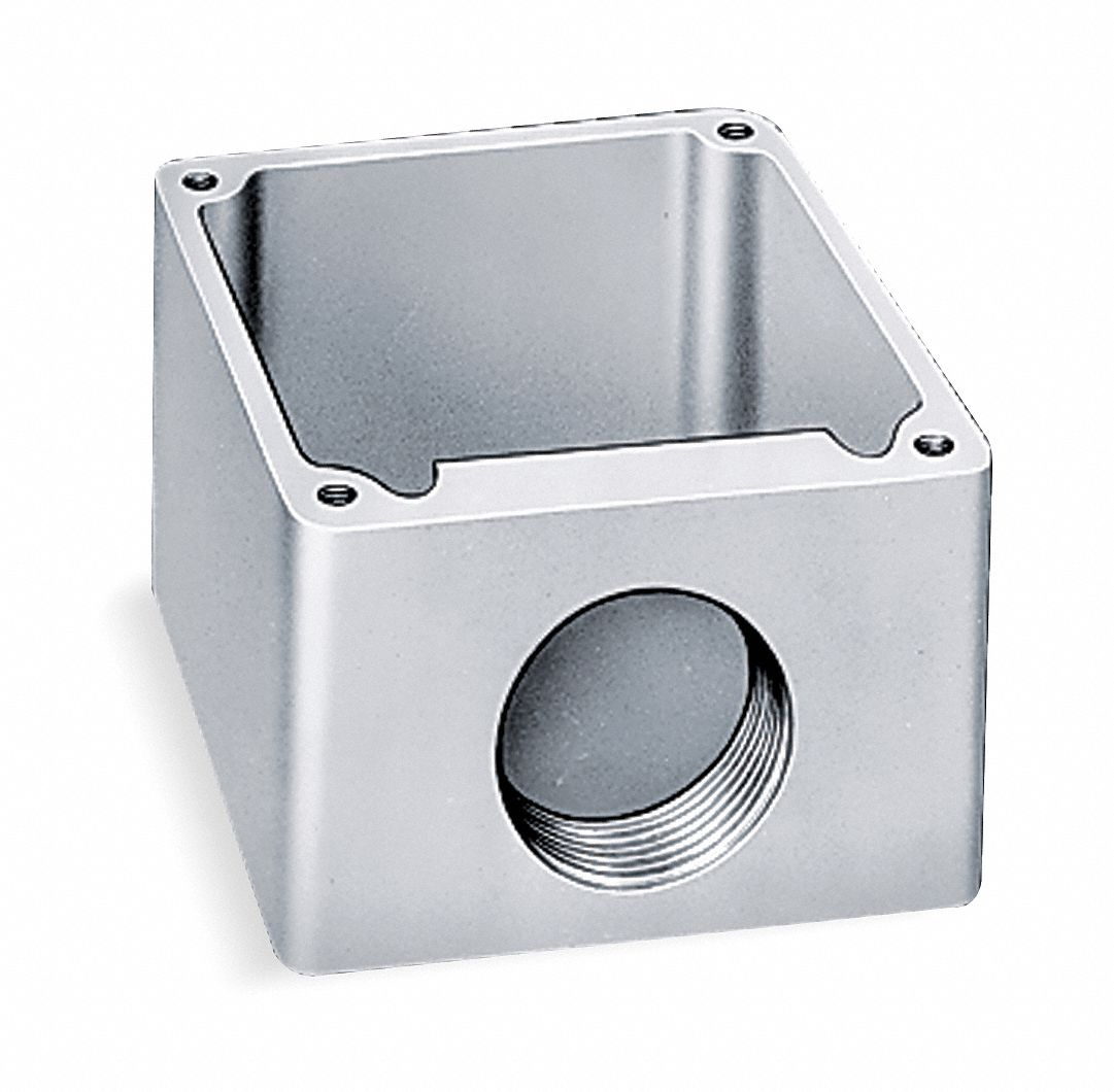 Receptacle Box, For Use With 3D085 and 3D086, Aluminum