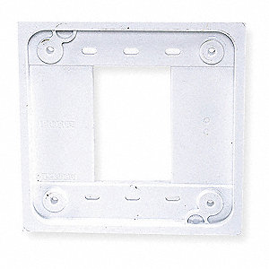 Adapter Plate, White, For Use With 1- and 2-gang 4-PLEX(R) Device Boxes