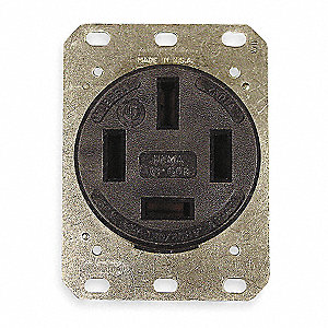 Receptacle,Single,60A,18-60R,208V,Black