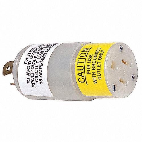 Hubbell wiring device kellems adaptador de enchufe 15a for Adaptador enchufe mexico