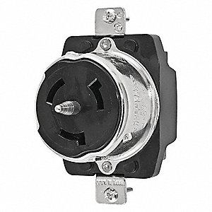 hubbell wiring device kellems black locking receptacle 50 amps rh grainger com hubbell wiring device-kellems distributors hubbell wiring devices kellems rf406br