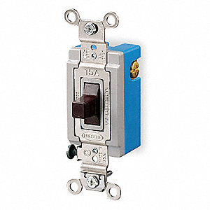 Wall Switch, Switch Type: 2-Pole, 3 Position, Center Off, Switch Function: Maintained, Style: Toggle