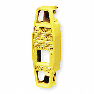 Toggle Swtch Lockout,Yellow.,PK2