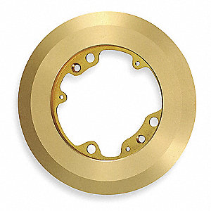Round Brass Floor Box Carpet Flange, Number of Gangs: 1