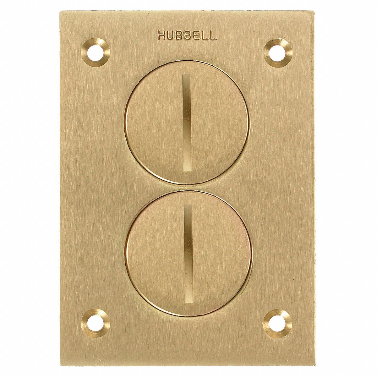 HUBBELL WIRING DEVICE-KELLEMS SA2425 Floor Box Cover,2-Gang,3 in.