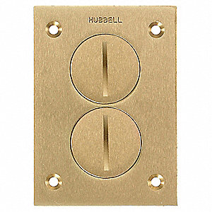 hubbell wiring device-kellems floor box cover, brass, shape