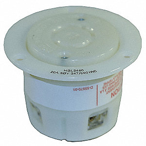Flanged Locking Receptacle,Industrial,20