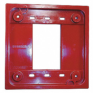 Adapter Plate, Red, For Use With 1- and 2-gang 4-PLEX(R) Device Boxes