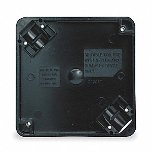 Adapter Box, Black, For Use With 1- and 2-gang 4-PLEX(R) Device Boxes