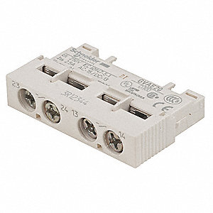 Auxiliary Contact, 2.5 Amps, Instantaneous Type, Side Mounting