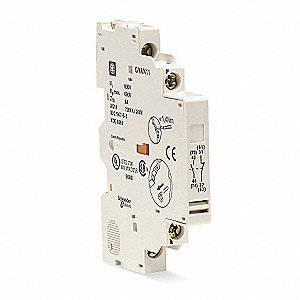 Auxiliary Contact, 6 Amps, Instantaneous Type, Side Mounting