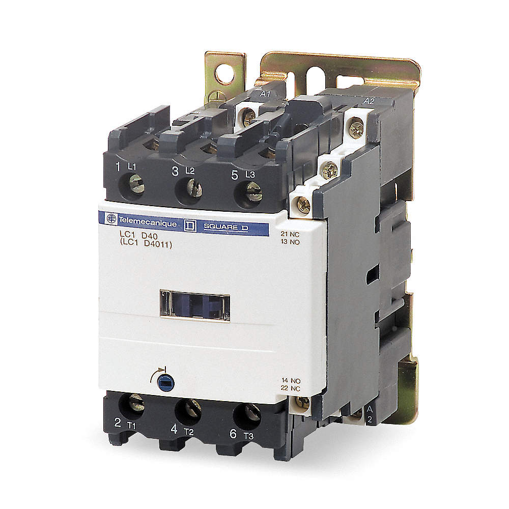 DAYTON 6EAR0 24VAC Non-Reversing IEC Magnetic Contactor 3P 50A