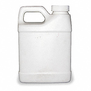 32 oz. Plastic Tin-Plated Steel Jug Rectangular Jug, White, 1EA