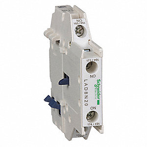 IEC Auxiliary Contact Block, 10 Amps, Standard Type, Side Mounting