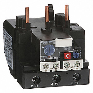 IEC Style Overload Relay, 48 to 65A, 3 Poles, Manual Reset, Trip Class: 10