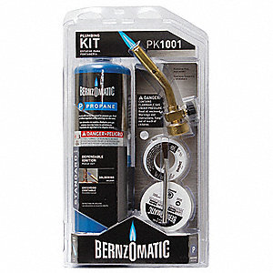 PK1001KC Plumbers Torch Kit, Propane Fuel, Fuel Control Knob Ignitor