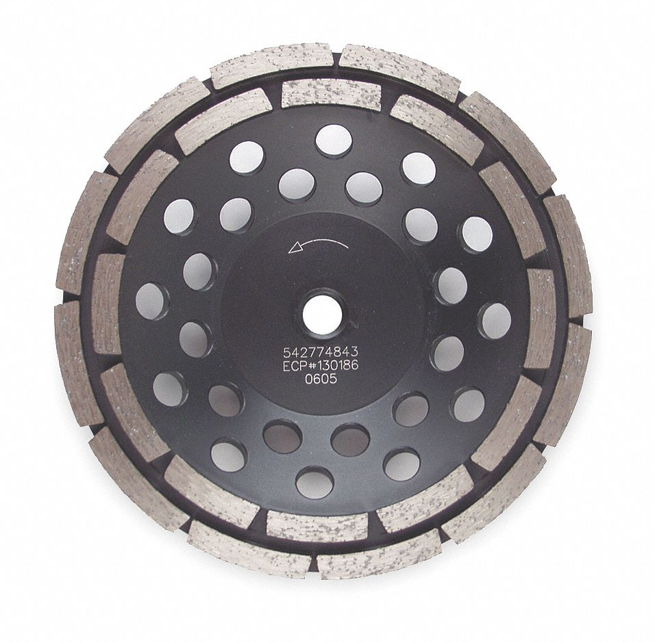 Double Row Segment Cup Grinding Wheel,  4 in,  5/8 in or 7/8 in Arbor Size,  15,000 RPM Max. RPM