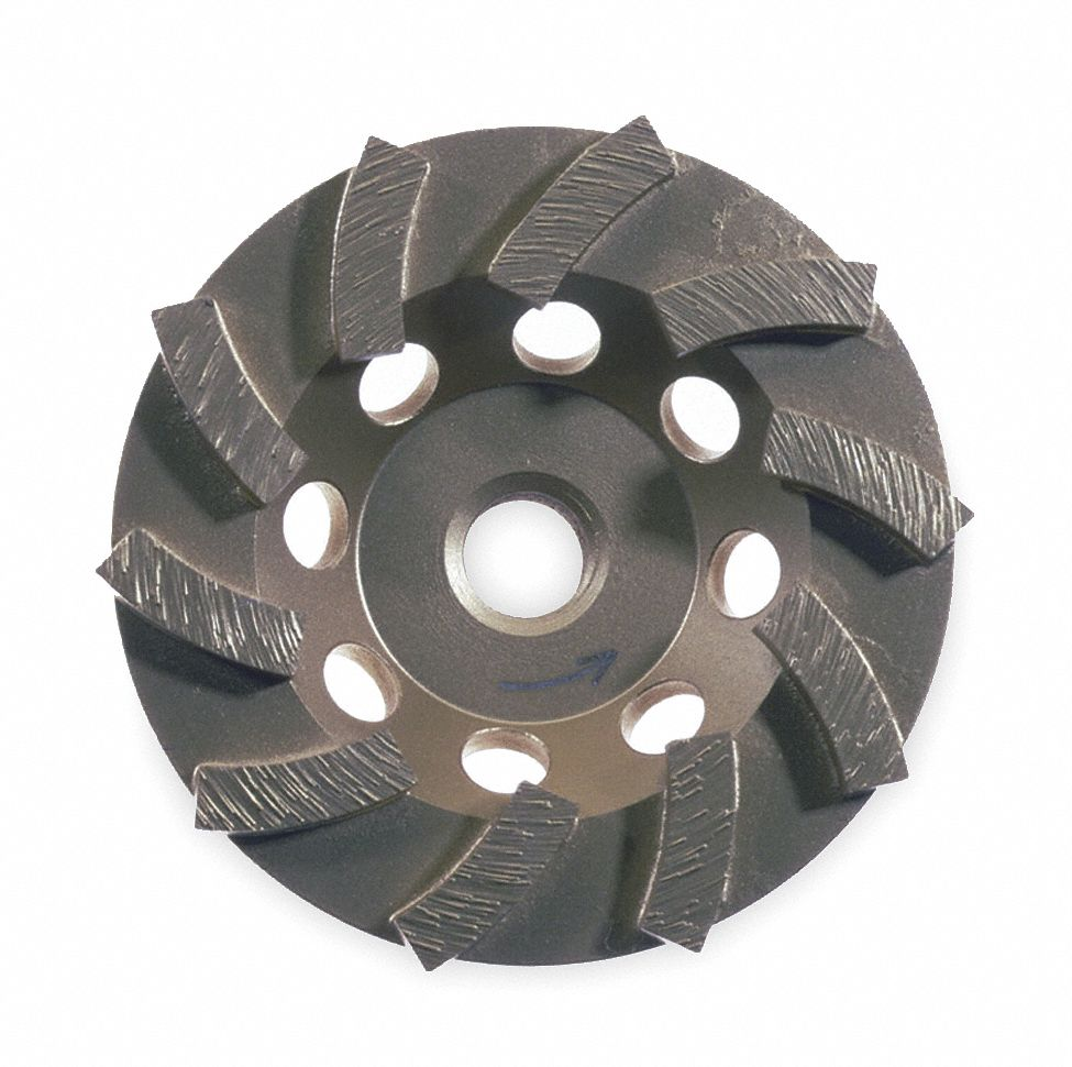 "Turbo Segment Cup Grinding Wheel,  5 in,  5/8""-11 Arbor Size,  12,000 RPM Max. RPM"
