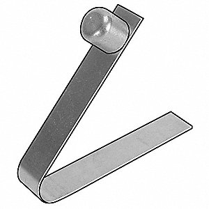"Single End Snap Button, Stainless Steel, Style : II 0.280"" Head Height"