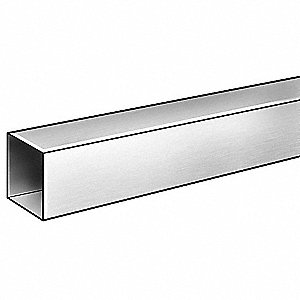 Square Tube,6063AL,7/8 In Inside Sq,1 ft