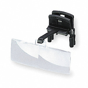 "Binocular Clip-on Magnifier,  3x,  5"" Focal Distance (In./mm),  75 x 28 Lens Dia. (mm),  8D Diopter"