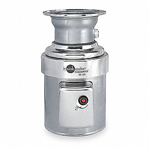 WASTE DISPOSER,COMMERCIAL,1 1/4 HP