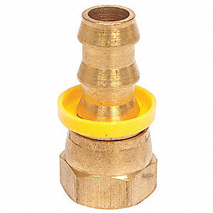 Hose Fitting,1/4 In. ID,5/8-18,(F) SAE