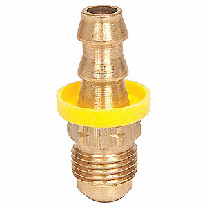 Straight Brass Push On Hose Fitting