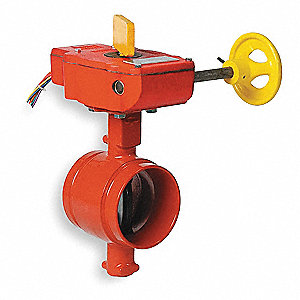 "Grooved-Style Butterfly Valve, Ductile Iron, 300 psi, 3"" Pipe Size"