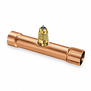 "1/4"" Access Valve Swaged Tee, PK3"