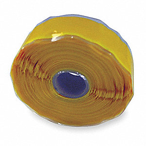 "1""W Silicone Rubber Self-Fusing Tape, Yellow, 432"" Length"