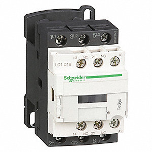 120VAC IEC Magnetic Contactor; No. of Poles 3, Reversing: No, 18 Full Load Amps-Inductive