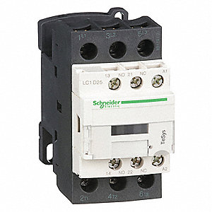 24VAC IEC Magnetic Contactor; No. of Poles 3, Reversing: No, 25 Full Load Amps-Inductive