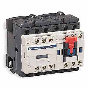 480VAC IEC Magnetic Contactor; No. of Poles 3, Reversing: Yes, 12 Full Load Amps-Inductive
