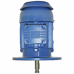 3 HP Vertical Pump Motor, 3-Phase, 1765 Nameplate RPM, 230/460 Voltage, 182HP Frame