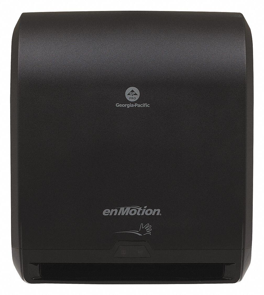 Georgia Pacific Paper Towel Dispenser Enmotion R Black 1 Roll W Stub Roll Automatic 3eb49 59462a Grainger