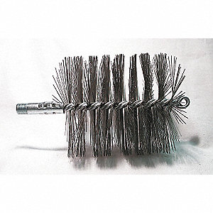 Flue Brush,Dia 4 1/4,1/4 MNPT,Length 8