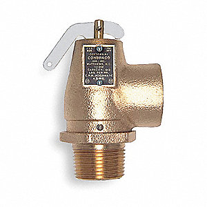 Cast Bronze Safety Relief Valve, MNPT Inlet Type, FNPT Outlet Type