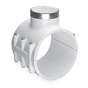 "4"" Two Piece PVC Saddle Clamp"