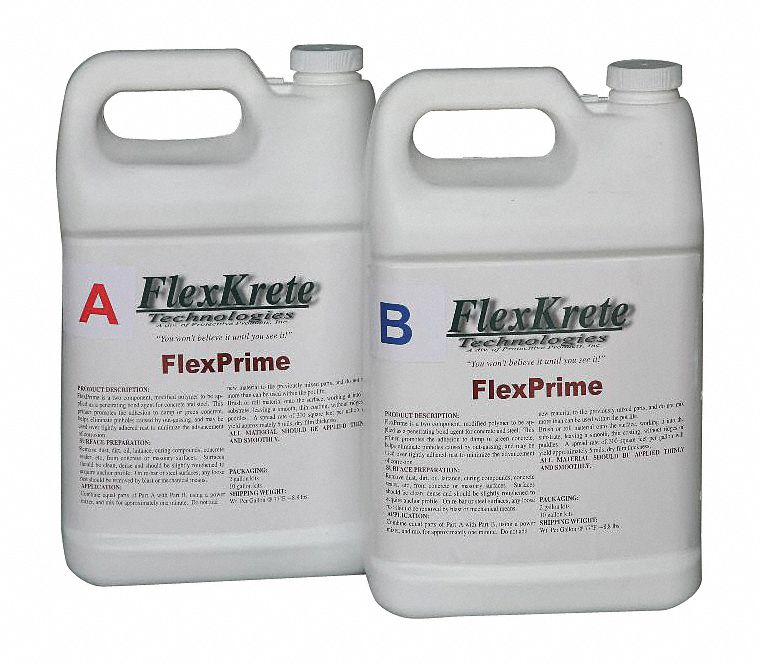 Primer, For Use on Adhesive Type : Concrete, Jug, (2) 1 gal