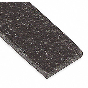 Fire Seal Weatherstrip,10 ft.,Graphite