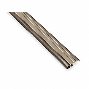 Door Frame Weatherstrip, 3 ft. Overall Length, Hollow Bulb Insert Type, Vinyl Insert Material