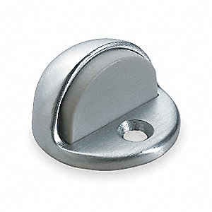 Dome Door Stop,Satin Chrome,Dia. 2 In