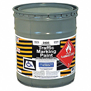 Chlorinated Solvent-Base Traffic Zone Marking Paint, White, 18.9L