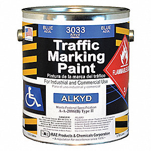 Handicap Blue Traffic Zone Marking Paint, Alkyd Solvent Base Type, 1 gal.
