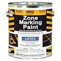 Yellow Traffic Zone Marking Paint, Latex Acrylic Base Type, 1 gal.